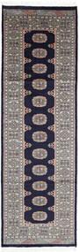 Pakistański Bucharski 2Ply Dywan 77X243 Orientalny Tkany Ręcznie Chodnik Ciemnofioletowy/Jasnoszary (Wełna, Pakistan)