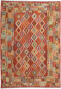 Kilim Afghan Old Style Tappeto 250X358 Orientale Tessuto A Mano Marrone Chiaro/Ruggine/Rosso Grandi (Lana, Afghanistan)