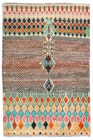 Barchi/Moroccan Berber - Afganistan Matta 95X145 Äkta Modern Handknuten Mörkbrun/Ljusbrun (Ull, Afghanistan)