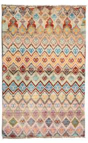 Barchi/Moroccan Berber - Afganistan Rug 85X132 Authentic  Modern Handknotted Light Brown/Dark Beige (Wool, Afghanistan)