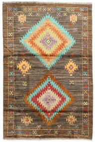 Barchi/Moroccan Berber - Afganistan Rug 119X179 Authentic  Modern Handknotted Light Brown/Brown (Wool, Afghanistan)