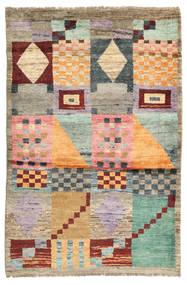Barchi/Moroccan Berber - Afganistan Matto 115X172 Moderni Käsinsolmittu Vaaleanruskea/Vaaleanharmaa (Villa, Afganistan)
