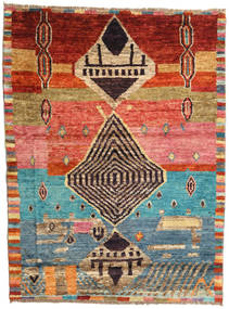 Barchi/Moroccan Berber - Afganistan Rug 124X164 Authentic  Modern Handknotted Light Brown/Brown (Wool, Afghanistan)