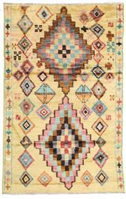 Barchi/Moroccan Berber - Afganistan Matto 119X187 Moderni Käsinsolmittu Keltainen/Beige (Villa, Afganistan)
