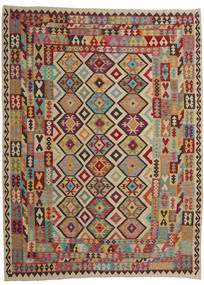 Kilim Afghan Old Style Rug 257X343 Authentic  Oriental Handwoven Brown/Light Brown Large (Wool, Afghanistan)