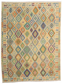 Kilim Afghan Old Style Rug 257X344 Authentic  Oriental Handwoven Dark Beige/Light Brown Large (Wool, Afghanistan)