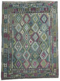 Kilim Afghan Old Style Alfombra 258X343 Oriental Tejida A Mano Gris Oscuro/Gris Claro Grande (Lana, Afganistán)