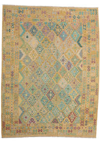 Kilim Afghan Old Style Rug 257X343 Authentic  Oriental Handwoven Light Brown/Light Grey Large (Wool, Afghanistan)