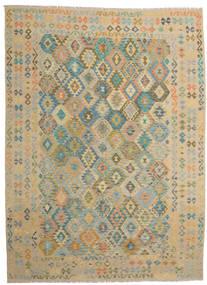 Kelim Afghan Old Style Teppich 251X343 Echter Orientalischer Handgewebter Hellbraun/Hellgrau Großer (Wolle, Afghanistan)