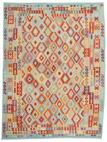 Kilim Afghan Old Style Rug 265X347 Authentic  Oriental Handwoven Dark Beige/Brown Large (Wool, Afghanistan)