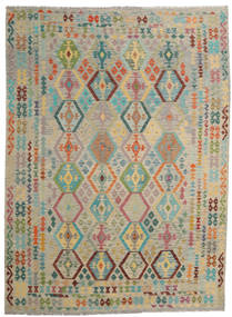 Kilim Afghan Old Style Rug 255X346 Authentic  Oriental Handwoven Light Grey/Light Brown Large (Wool, Afghanistan)