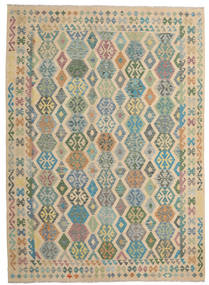 Kilim Afghan Old Style Rug 250X347 Authentic  Oriental Handwoven Light Brown/Light Grey Large (Wool, Afghanistan)