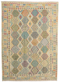 Kilim Afghan Old Style Rug 251X349 Authentic  Oriental Handwoven Light Brown/Dark Beige Large (Wool, Afghanistan)