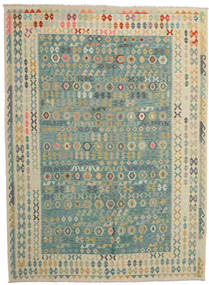 Kilim Afghan Old Style Rug 272X373 Authentic  Oriental Handwoven Dark Grey/Turquoise Blue Large (Wool, Afghanistan)