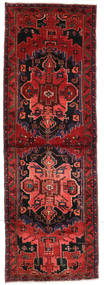 Saveh Rug 102X305 Authentic  Oriental Handknotted Hallway Runner  Dark Red/Rust Red (Wool, Persia/Iran)