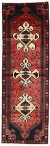Hamadan Teppich  105X316 Echter Orientalischer Handgeknüpfter Läufer Dunkelrot/Schwartz (Wolle, Persien/Iran)