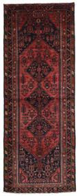 Hamadan Matto 122X323 Itämainen Käsinsolmittu Käytävämatto Tummanpunainen/Musta (Villa, Persia/Iran)