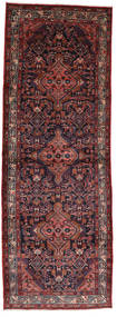 Asadabad Rug 112X320 Authentic  Oriental Handknotted Hallway Runner  Dark Red/Dark Brown (Wool, Persia/Iran)