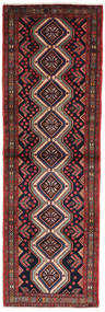 Asadabad Vloerkleed 103X331 Echt Oosters Handgeknoopt Tapijtloper Donkergroen/Donkerrood (Wol, Perzië/Iran)