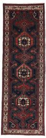 Hamadan Covor 100X308 Orientale Lucrat Manual Roșu-Închis/Maro (Lână, Persia/Iran)