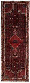 Hamadan Matto 107X306 Itämainen Käsinsolmittu Käytävämatto Tummanpunainen/Tummanruskea (Villa, Persia/Iran)