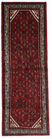 Hosseinabad Matto 102X302 Itämainen Käsinsolmittu Käytävämatto Tummanpunainen/Tummanruskea (Villa, Persia/Iran)
