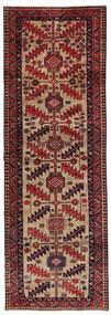 ハマダン 絨毯 106X306 オリエンタル 手織り 廊下 カーペット 茶/深紅色の/薄茶色 (ウール, ペルシャ/イラン)