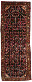 Hamadan Rug 112X300 Authentic  Oriental Handknotted Hallway Runner  Dark Red (Wool, Persia/Iran)