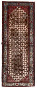 Hamadan Rug 114X275 Authentic  Oriental Handknotted Hallway Runner  Dark Red/Dark Grey (Wool, Persia/Iran)