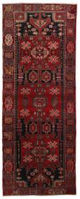 Hamadan Rug 108X286 Authentic  Oriental Handknotted Hallway Runner  Dark Red/Dark Brown (Wool, Persia/Iran)