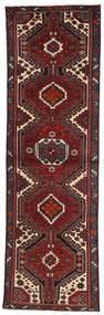 Hamadan Teppich 94X312 Echter Orientalischer Handgeknüpfter Läufer Dunkelrot/Dunkelbraun (Wolle, Persien/Iran)