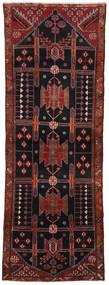 Hamadan Matto 108X310 Itämainen Käsinsolmittu Käytävämatto Tummanpunainen/Musta (Villa, Persia/Iran)