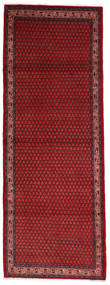 Sarouk Mir Rug 107X293 Authentic  Oriental Handknotted Hallway Runner  Dark Red/Dark Blue (Wool, Persia/Iran)
