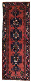 Asadabad Rug 107X296 Authentic  Oriental Handknotted Hallway Runner  Dark Red/Dark Purple (Wool, Persia/Iran)