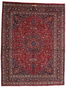 Mashad Matto 302X393 Itämainen Käsinsolmittu Tummanpunainen/Tummanharmaa Isot (Villa, Persia/Iran)