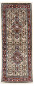 Moud Tappeto 78X194 Orientale Fatto A Mano Alfombra Pasillo Marrone Scuro/Grigio Scuro (Lana/Seta, Persia/Iran)