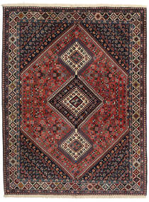Yalameh Rug 153X201 Authentic  Oriental Handknotted Black/Dark Red (Wool, Persia/Iran)
