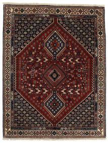 Yalameh Koberec 156X200 Orientální Ručně Tkaný Černá/Světle Hnědá/Tmavě Červená (Vlna, Persie/Írán)