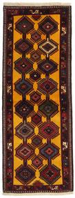 Yalameh Teppich  80X213 Echter Orientalischer Handgeknüpfter Läufer Dunkelbraun/Dunkelrot (Wolle, Persien/Iran)