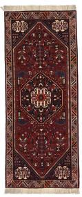 Ghashghai Matto 81X199 Itämainen Käsinsolmittu Käytävämatto Tummanruskea/Tummanpunainen (Villa, Persia/Iran)