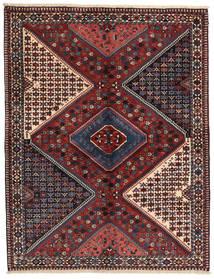 Yalameh Dywan 150X197 Orientalny Tkany Ręcznie Ciemnoczerwony/Ciemnoszary (Wełna, Persja/Iran)