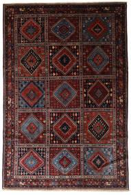 Yalameh Tæppe 203X305 Ægte Orientalsk Håndknyttet Mørkebrun/Mørkerød (Uld, Persien/Iran)