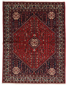 Abadeh Sherkat Farsh Rug 155X204 Authentic  Oriental Handknotted Dark Red/Black (Wool, Persia/Iran)