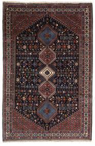 Yalameh Sherkat Farsh Covor 155X238 Orientale Lucrat Manual Roșu-Închis/Gri Închis (Lână, Persia/Iran)