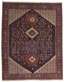 Yalameh Rug 200X258 Authentic  Oriental Handknotted Dark Brown/Dark Red (Wool, Persia/Iran)