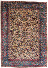 Keshan Rug 244X345 Authentic  Oriental Handknotted Light Brown/Dark Red (Wool, Persia/Iran)