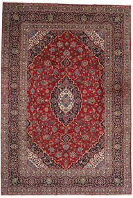 Keshan Rug 242X355 Authentic  Oriental Handknotted Dark Red/Brown (Wool, Persia/Iran)