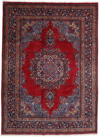 Mashad Rug 244X337 Authentic  Oriental Handknotted Dark Red/Crimson Red (Wool, Persia/Iran)
