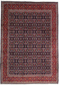 Keshan Rug 241X347 Authentic  Oriental Handknotted Dark Red/Dark Blue (Wool, Persia/Iran)