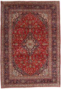 Keshan Matta 246X353 Äkta Orientalisk Handknuten Mörkröd/Mörkbrun (Ull, Persien/Iran)